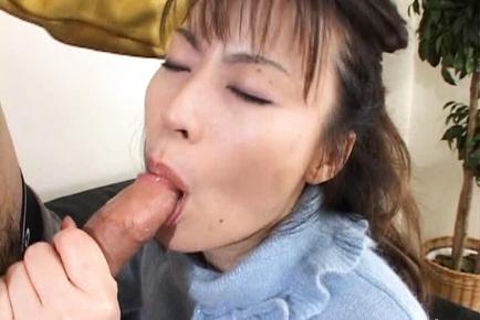 Asian granny blow job 3
