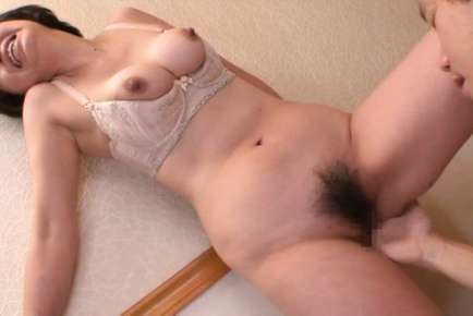 Chiaki takeshita. Chiaki Takeshita with tits out of bra has hairy slit fingered