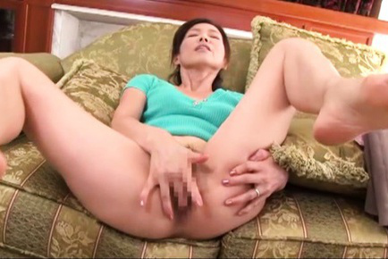 Mika matsushita. Mika Matsushita gets horny while cleaning and fingers her cunt