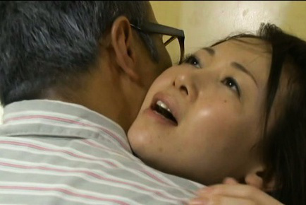 Japanese av model. Japanese AV Model is kissed, has boobs