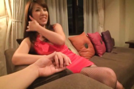 Httpfhg japanesematures com50373misayukimtr2vgd120misayukijapanesebeautifulmaturewoman1natsmjeymjk6mte6mtc000219878. Misa Yuki Asian in exciting red dress and fishnets blow man fingers