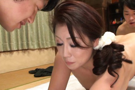 Neko ayami. Neko Ayami Asian with large butt and dark nipples is doggy pumped