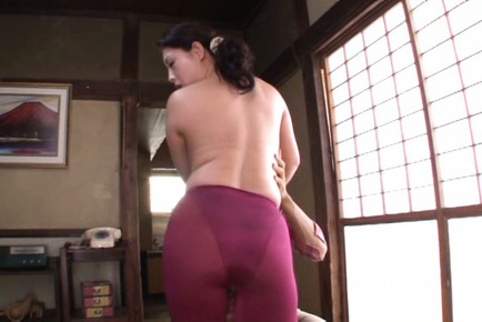 Neko ayami. Neko Ayami Asian busty has poonanie licked over spandex pants