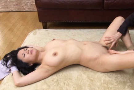 Miki sato. Miki Sato Asian has mouth covered and is make love between large tits