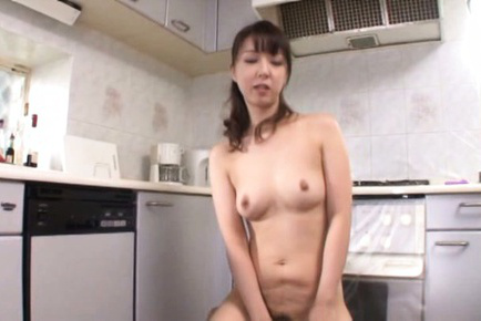 Sayuri ikuina. Sayuri Ikuina Asian rides cock after strong doggy in the kitchen