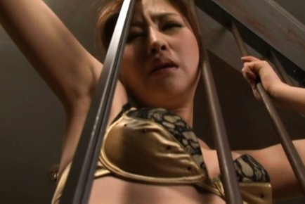 Miki ishihara. Miki Ishihara Asian has hairy cumshot dumpster fingered through bars