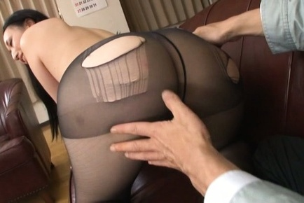 Aya shiina. Aya Shiina Asian has hot arse cheeks touched over ripped stockings