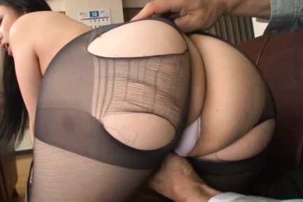Aya shiina. Aya Shiina Asian has hot booty cheeks touched over ripped stockings