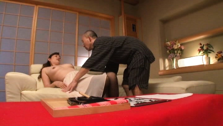 Reiko shimura. Reiko Shimura Asian is touched on large ass and is undressed by man