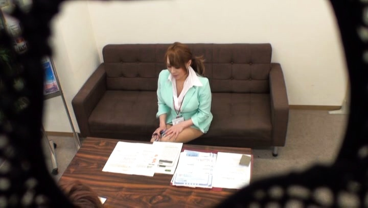 Amateur. Amateur Asian is undressed of office outfit and has nooky licked