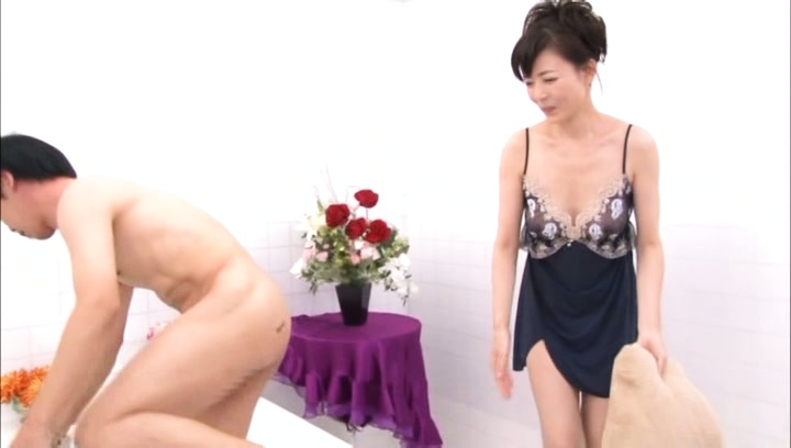 Eriko miura. Eriko Miura Asian with hot behind takes panty off before have sex