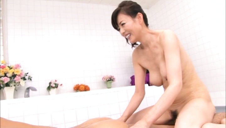 Eriko miura. Eriko Miura Asian with considerable cans kisses guy butthole and rubs his tool