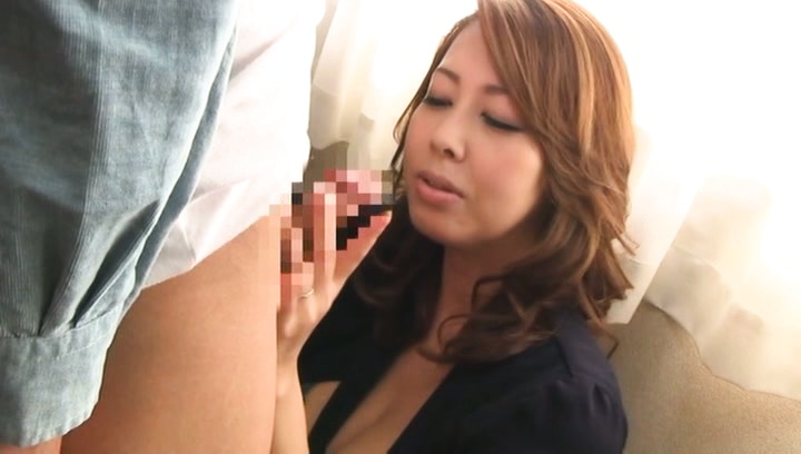 Amateur. Amateur Asian dame with great cans in bra rubs and cock sucking joystick